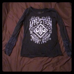 Affliction long sleeve tee shirt size M